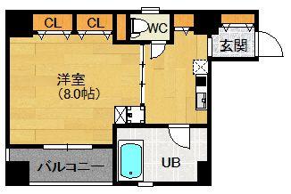 大阪市福島区、立地重視の広めの1K♪